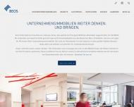 Bild Webseite BEOS Projektentwicklung und Immobilienmanagement Berlin