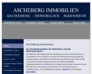 Website Ascheberg Immobilien in Mannheim