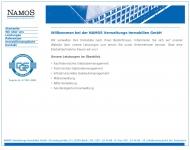 Bild Webseite NAMOS Verwaltung Immobilien Berlin