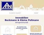 Bild Webseite Immobilien Beckmann & Kleine Pollmann Osnabrück