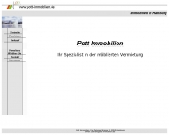 Bild Webseite Dieter Pott Immobiliengesellschaft Hamburg