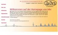 Bild Webseite b & c Immobilienbüro Verwaltungsgesellschaft Hamburg