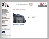 Bild Webseite HESA Immobilien Wuppertal