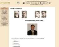 Website Behrendt Artur Caesar Immobilien