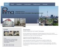 Bild Webseite Prima Gesellschaft für professionelles Immobilien-Management Berlin