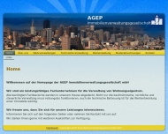 Website AGEP Immobilienverwaltung