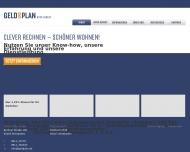 Bild Webseite GELD & PLAN Vermittlungsges. für Immobilienfinanzierung Wiesbaden