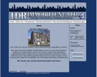Bild Webseite IDR Immobilien u. Verwaltung-Management Duisburg