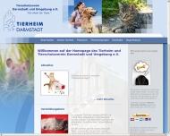 Bild Webseite Tierheim und Tierschutzverein Darmstadt Darmstadt