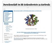 Website Burschenschaft Hoheneberstein