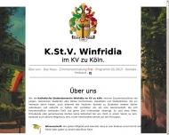 Bild Webseite Winfridia K.St.V. Köln