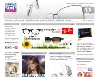 Bild Webseite Hennes Optik & Hörgeräte Rösrath