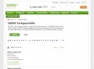 Website GEERS Hörakustik