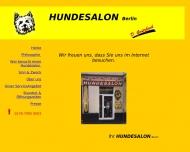 Bild Webseite Grützbach Doris Hundesalon - alle Rassen Berlin