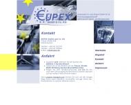 Website EUPEX Automobil Im- und Export
