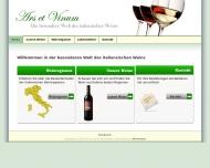 Website Ars et Vinum Wein Import u. Vertriebsges.