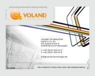 Bild Webseite Ingenieurbüro VOLAND TECHNOLOGIE Dresden