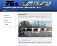 Website PTW Planungsgemeinschaft Tief- und Wasserbau