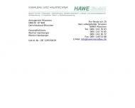 Bild Webseite HAWE München