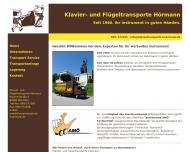 Bild Webseite Klaviertransporte Hörmann München