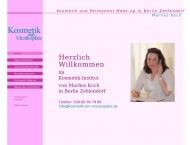 Bild Webseite Kosmetik am Mexikoplatz Koch Marlies Berlin