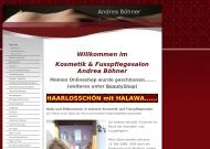 Kosmetik und Fu?pflege Andrea B?hner - Startseite