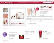 Bild Webseite CLARINS Kosmetik Berlin
