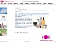Bild Webseite Fox-Kosmetik Vertriebs-Gesellschaft Hamburg