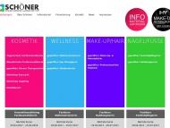 Bild Webseite Schöner Berufsfachschule für Kosmetik Visagistik, Wellness, Ganzheitskosmentik München