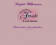 Bild Webseite Kosmetiksalon AMADO Berlin