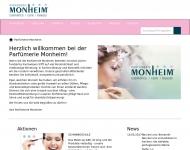 Bild Webseite Monheim Parfümerie Aachen
