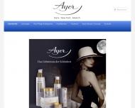 Bild Webseite Ayer Harriet Hubbard Parfümerie u. Kosmetik München