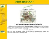 Bild Webseite Pro-Human Häusliche Pflege u. Betreuung Berlin