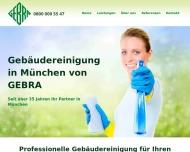 Website GEBRA Gebäudereingung