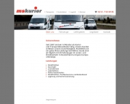 Website ms-kurier Transportunternehmen