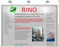 Bild Webseite RINO Bau & Transport Rheinau