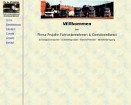 Website Projahn Containerdienst