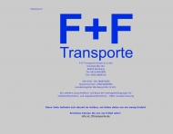 Bild Webseite F+F Transporte Nürnberg