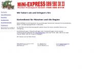 Bild Webseite FUNK-EXPRESS Transportvermittlung München