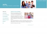 Bild Webseite MPL Medizinische Personal Leasing München