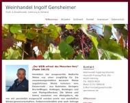 Website Gensheimer Ingolf Weinhandlung