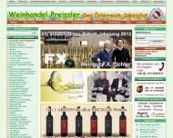 Website Weinhandel Preißler