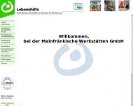 Website Mainfränkische Werkstätten