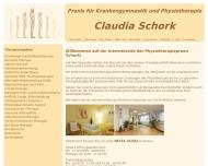 Website Praxis für Physiotherapie und Krankengymnastik Claudia Schork & Susanne Schork