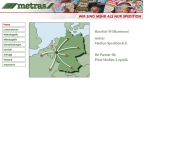 Bild Webseite METRAS Medien-Spedition Köln