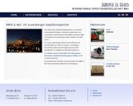 Website MIRU & HJS Internationale Speditionsgesellschaft