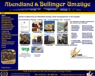 Website Bullinger Michael Speditions- und Umzugsges.