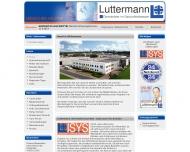 Website Luttermann - Dienstleister im Gesundheitswesen