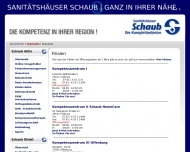 Website Orthopädietechnik Sanitätshaus Schaub