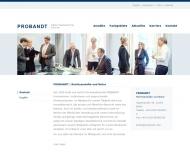 Bild Webseite Probandt Dr. jur. Wolfgang Berlin